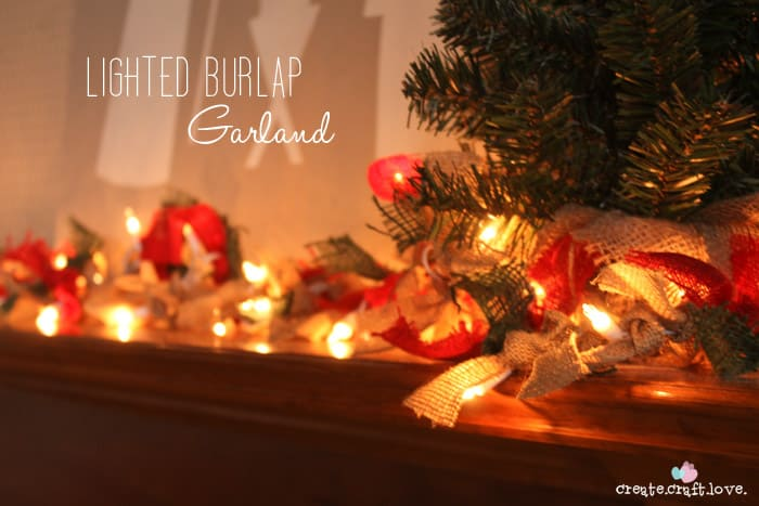 lit christmas garland upclose