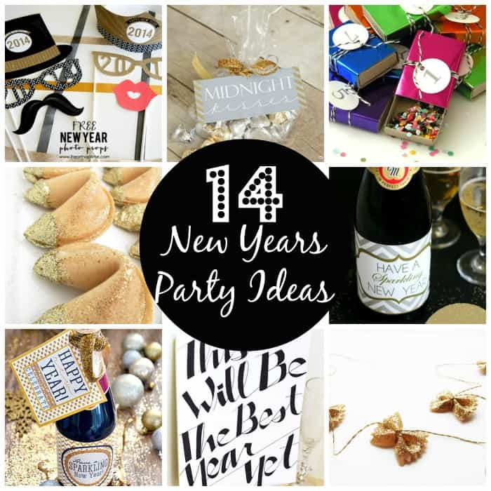 It's a new beginning!  To ring in the 2014, here are 14 New Years Party Ideas to help you celebrate!  #newyear #newyear2014