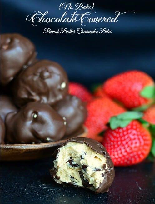 No-Bake-Chocolate-Covered-Peanut-Butter-Cheesecake-Bites-2-from-willcookforsmiles.com-chocolate-cheesecakebites