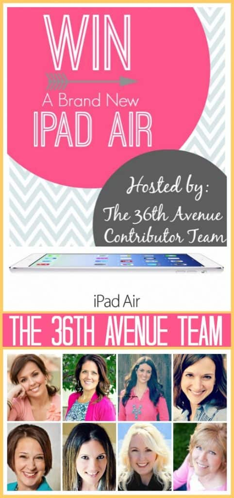 Your chance to win an iPad Air!  Jan 6 - Jan 12 brought to you by the 36th Avenue Team!  #giveaway