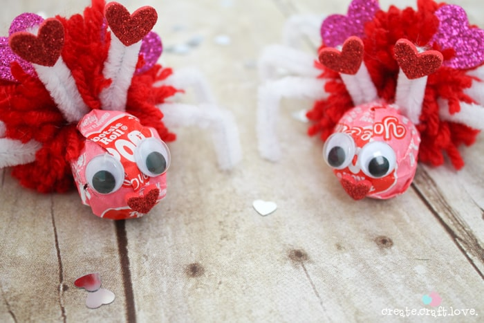 Using Valentine Tootsie Pops, I Created These Love Bug Pops For The Kiddo  To Pass