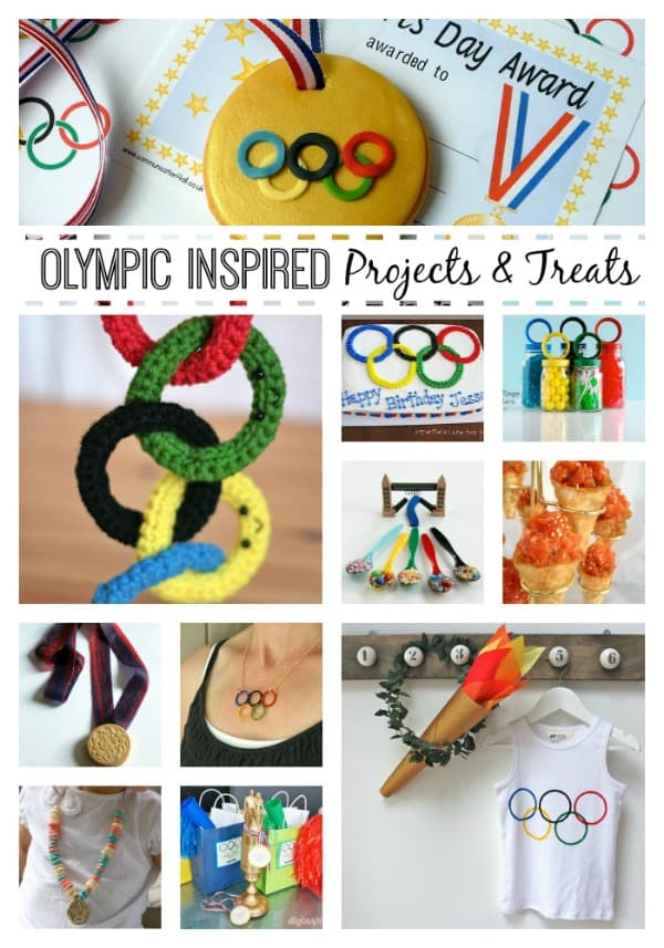 In the spirit of the Winter Games, here are some Olympic Inspired Projects and Treats! via createcraftlove.com #olympics #olympicprojects #olympiccrafts #olympictreats