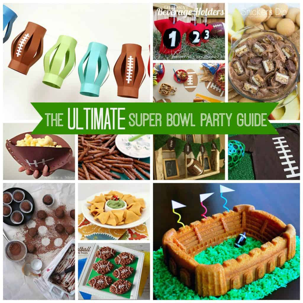 The Ultimate Super Bowl Party Guide from your favorite bloggers! via createcraftlove.com #superbowl #partyideas #recipes #desserts