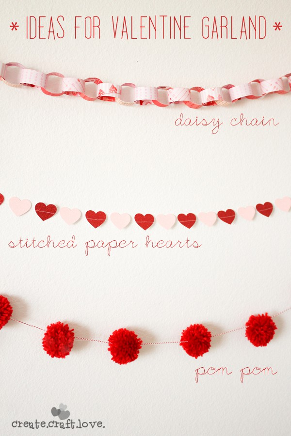 Ideas for Valentine Garland