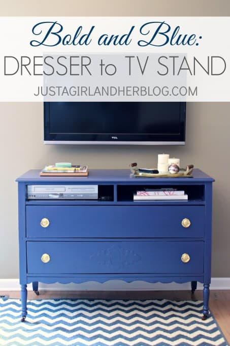 Bold-And-Blue-Dresser-to-TV-Stand-453x680