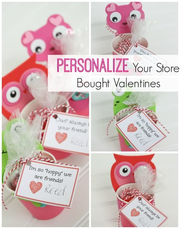 I'm going to show you a simple way to personalize your store bought Valentines and the best part is you still have time to whip them up! #valentinesday #valentinecrafts #printables #tutorial