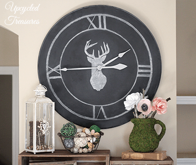 table-upcycled-into-chalkboard-clock-upcycledtreasures