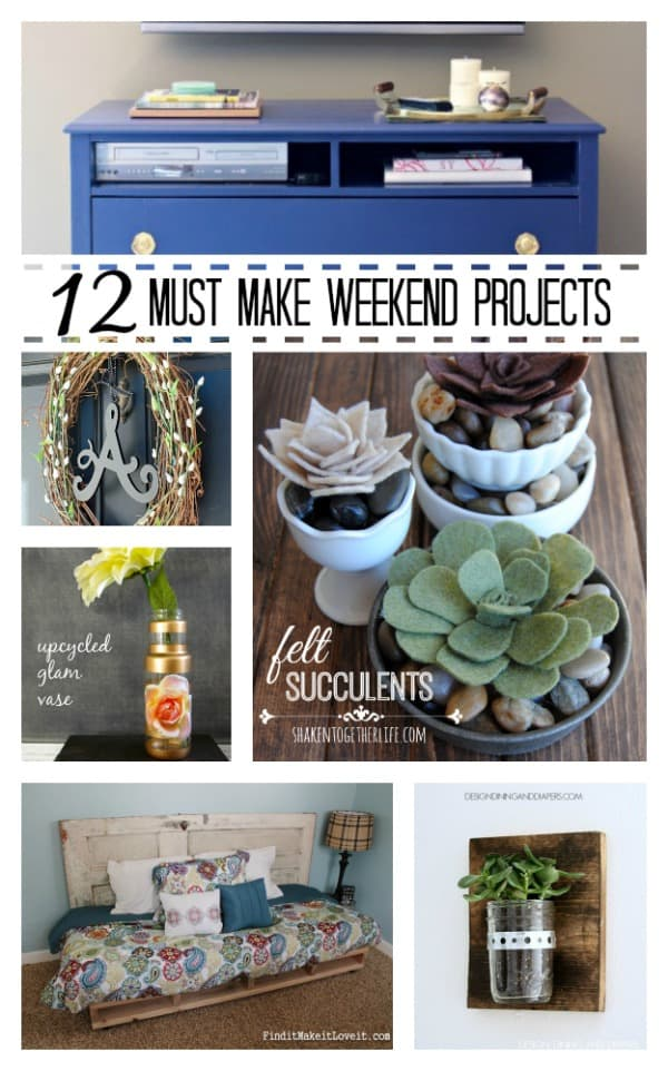 These 12 Must Make Weekend Projects will knock your socks off! #DIY #homedecor #projects