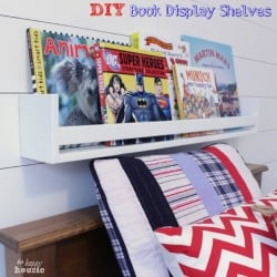 DIY-Book-Display-Shelves-on-wall-at-the-happy-housie