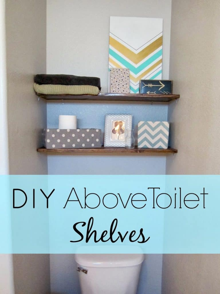 DIY above toilet shelves 2
