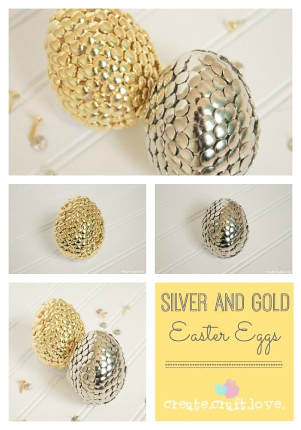 Silver and Gold Easter Eggs Pinterest