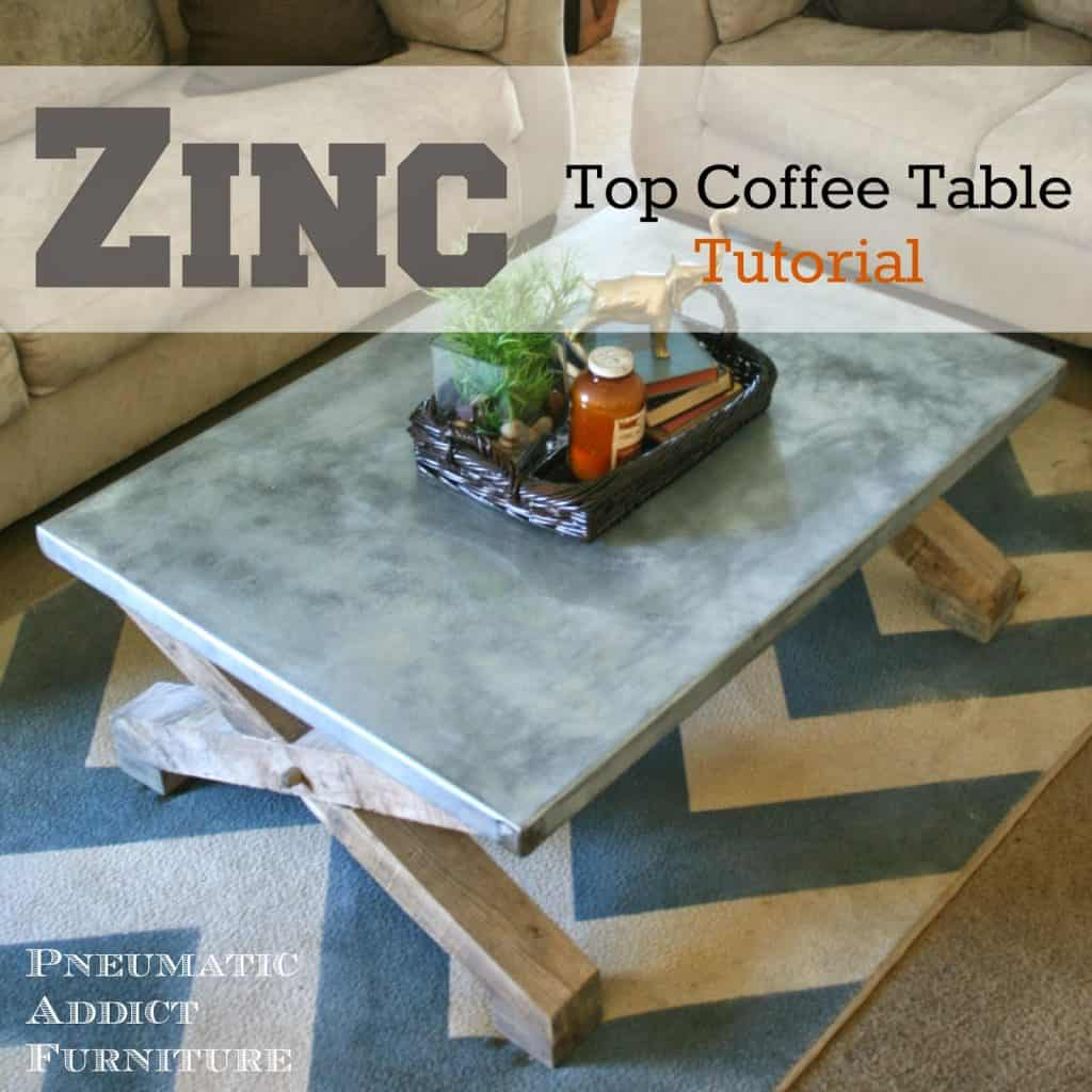 Zinc Top Coffee Table33