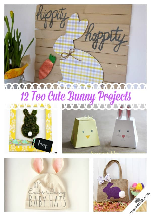 Check out these Bunny Projects that are too cute for words! via createcraftlove.com #easter #bunny #crafts #projects