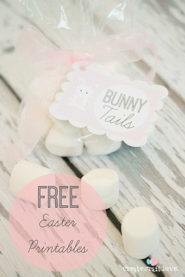Don't worry, no ACTUAL bunnies were hurt in the making of these Free Easter Printables! #easter #printables #bunnytails