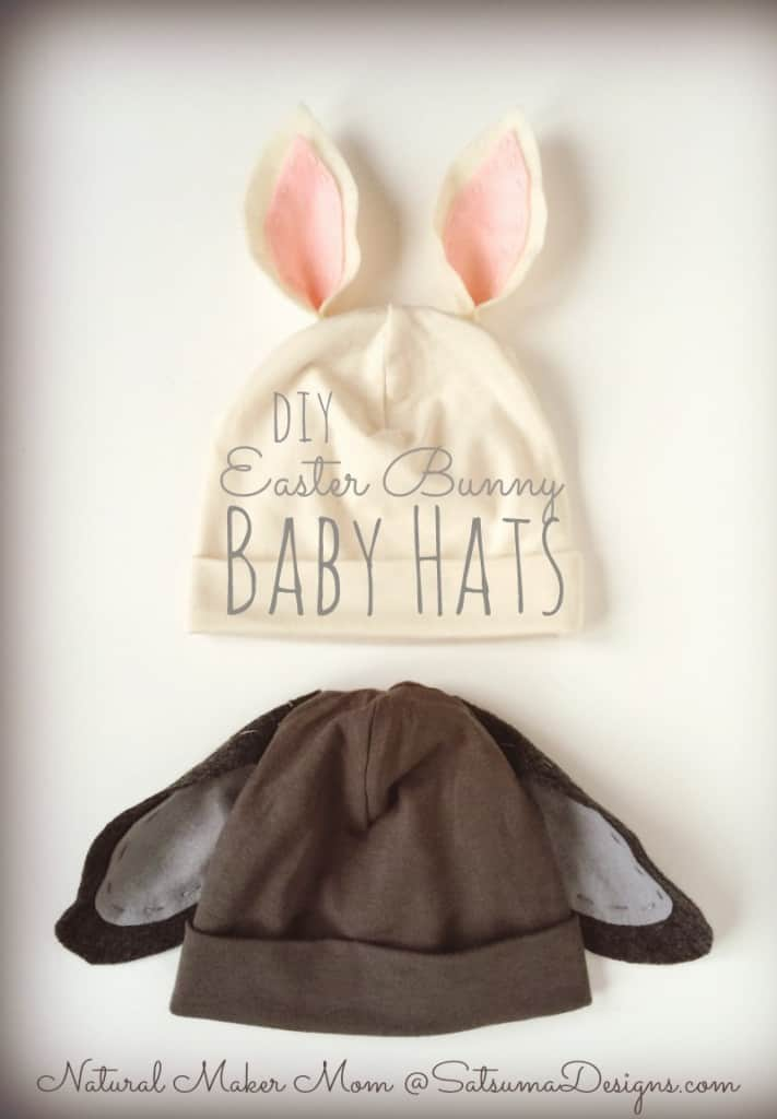 Too cute bunny projects diy easter bunny baby hats negle Choice Image