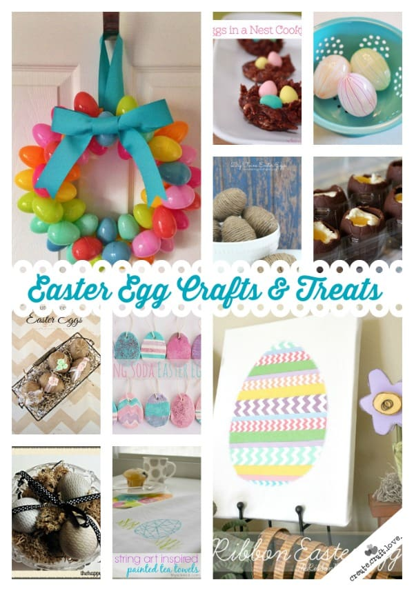 Lovin' these Easter Egg Crafts and Treats that were linked up to the Creative Connection last week! via createcraftlove.com #easter #easteregg #crafts #treats