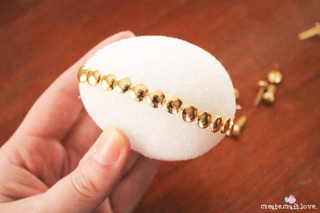 silver and gold easter eggs fasteners