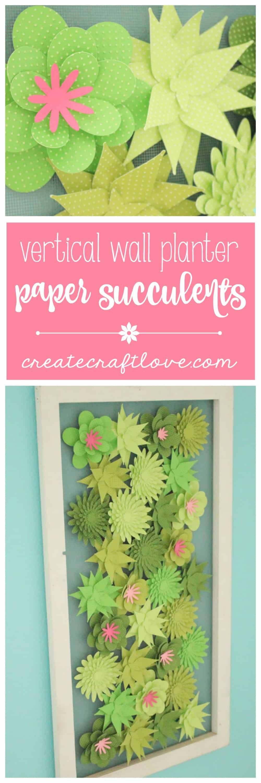 Create this fabulous faux Vertical Wall Planter with Paper Succulents from the Core'dinations paper line at Darice.com! #spon