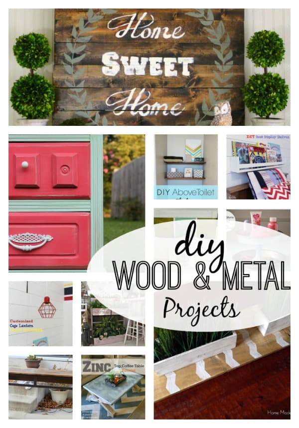 These 11 DIY Wood and Metal Projects are sure to get your creative juices flowing!  #features #wood #metal #DIY