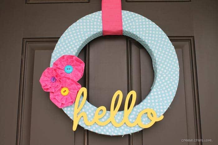 hello summer wreath horizontal