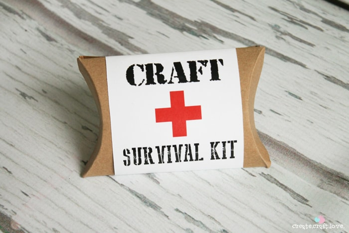 Craft Survival Kit with free printable! #spon #businesscards #printables