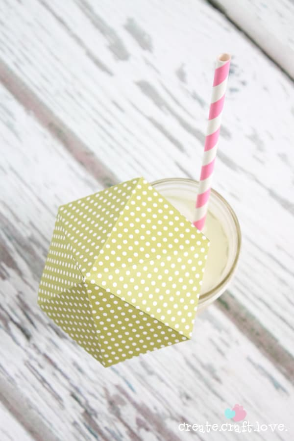 Create your own DIY Drink Umbrellas with some cardstock and lollipop sticks! via createcraftlove.com for The 36th Avenue