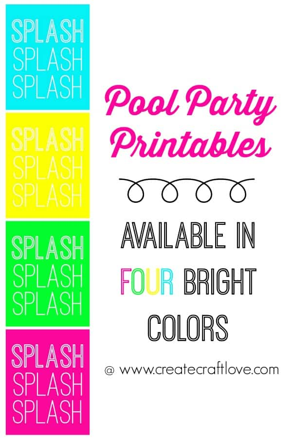 It is a graphic of Slobbery Pool Party Printable