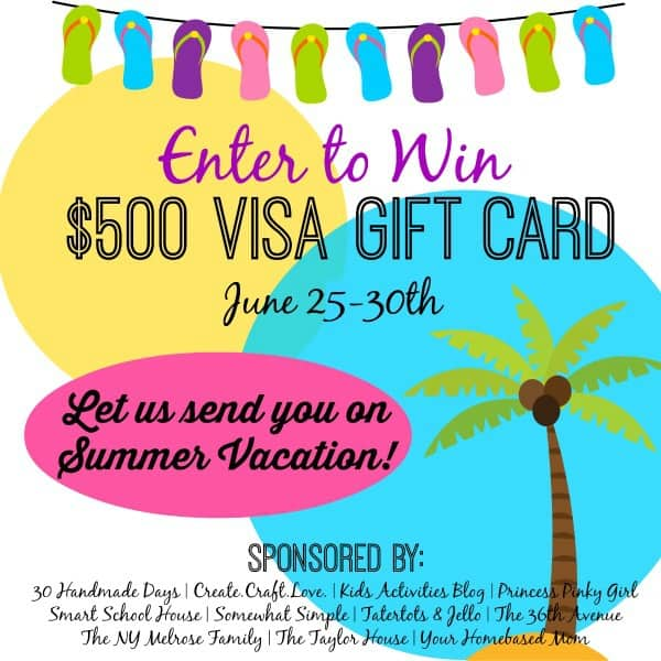 $500 Visa gift card GIVEAWAY... Shut up!!!!  Ready for a Summer Vacation?