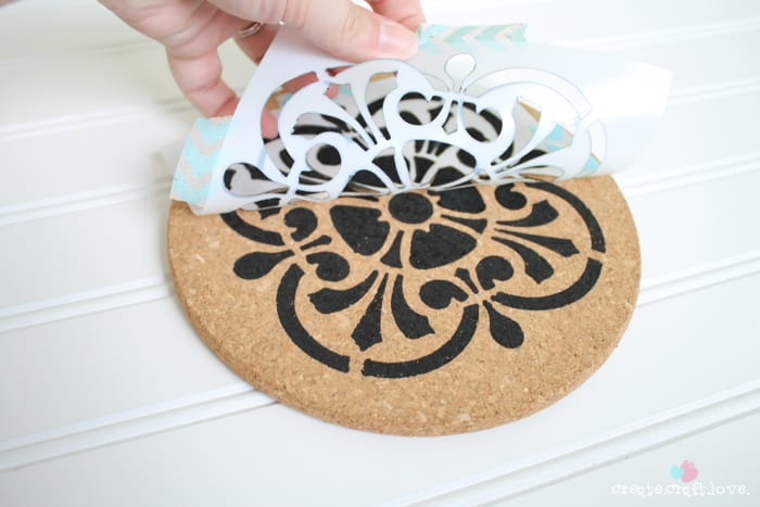 How to make your own DIY Stenciled Trivet with Sharpie Paint Markers!  via createcraftlove.com #ad #PMedia #PaintYourWay