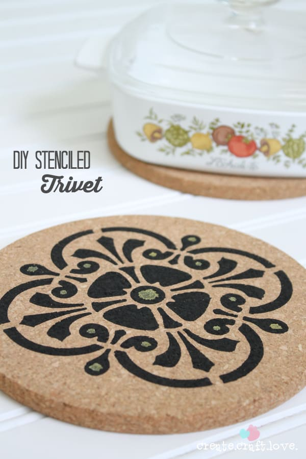 I whipped up this DIY Stenciled Trivet with Sharpie Paint Markers! via createcraftlove.com #PaintYourWay #PMedia #ad