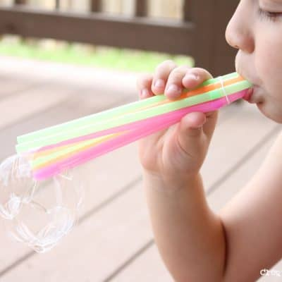 Bubble Wands Inspired by 101 Kids Activities