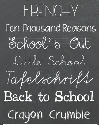 Back to School Fonts via createcraftlove.com