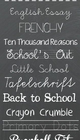 The BEST Back to School Fonts
