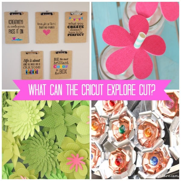What can the cricut explore cut?