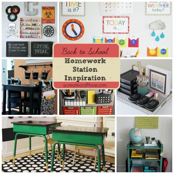 Back to School Homework Station Inspiration at createcraftlove.com!