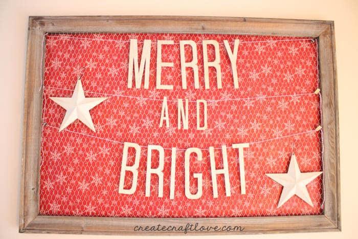 wood christmas banner horizontal