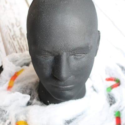 Foam Head Halloween Candy Bowl