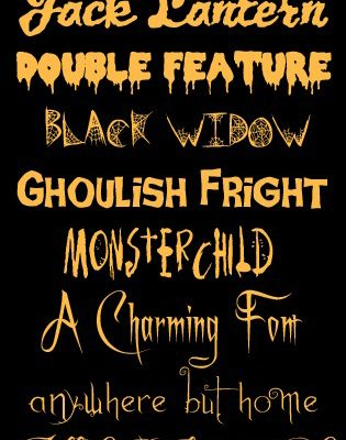 The BEST Halloween Fonts