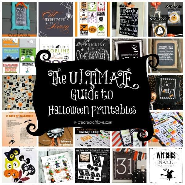 The ULTIMATE Guide to Halloween Printables - over 31 FREE printables via createcraftlove.com