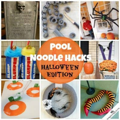 Pool Noodle Hacks: Halloween Edition via createcraftlove.com
