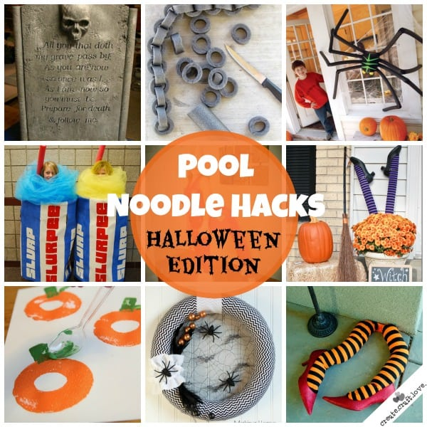 Pool Noodle Hacks: Halloween Edition via createcraftlove.com