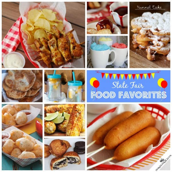 ove state fair food but don't want to go to the fair? No worries! I've got you covered! via createcraftlove.com