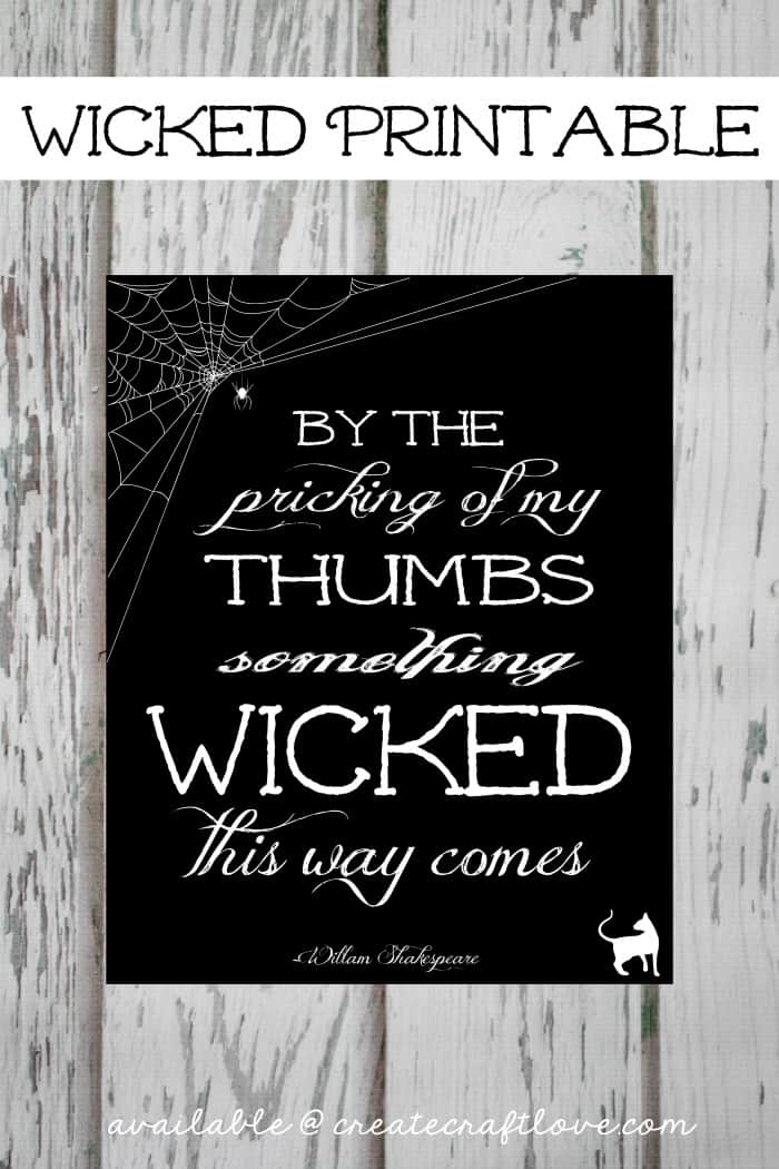 wicked printable - guide to halloween printables