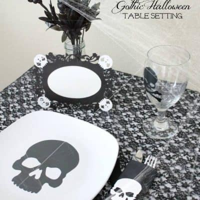 Gothic Halloween Table Setting