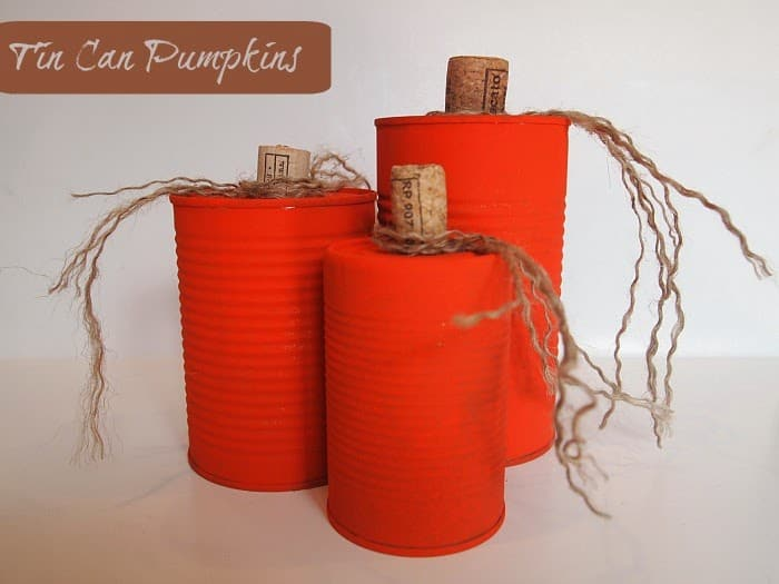 tin can pumpkin craft tin can pumpkins 5586