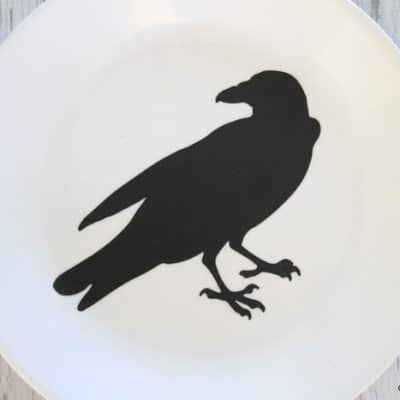 Gothic Halloween Plate Decor
