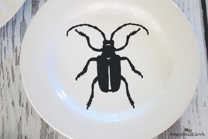scarab gothic halloween plate decor