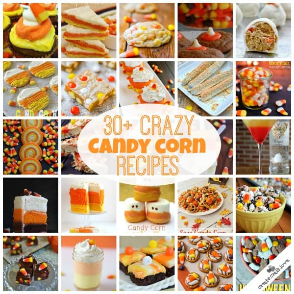 These 30+ Candy Corn Recipes are going to have you craving those little orange, yellow and white morsels! via createcraftlove.com
