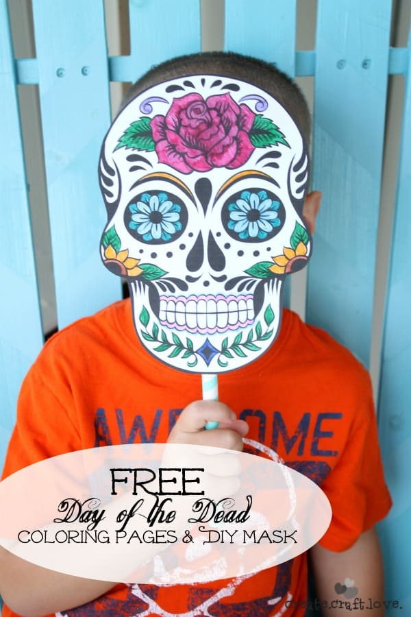 Day of the dead mask printable for Day of the dead crafts for preschoolers