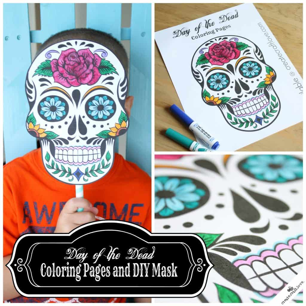 Day of the dead mask printable for Day of the dead skull mask template